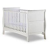 Izziwotnot Bailey Sleigh Cot Bed in White