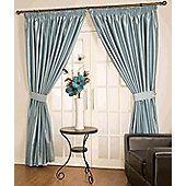 Como Ready Made Lined Curtains - Blue