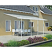Palram Feria Lean To Carport And Patio Cover 3X6.1 White