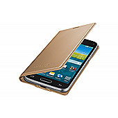 Samsung Original Galaxy S5 Mini Flip Case Punching Pattern Copper Gold