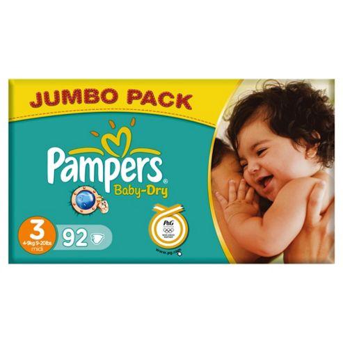 Pampers Baby Dry Jumbo Midi 92 (Size 3)