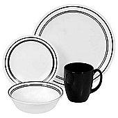 Corelle Livingware 16 Piece Dinnerware Set - Black
