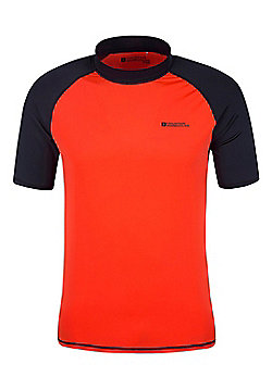 Mens Rash UV Protection Vest Swimming Diving Surfing Top - Orange