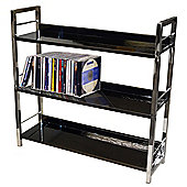 Techstyle 3 Tier Shelf Unit / Bookcase - Black