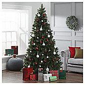 Dobbies Carrie Dew Drop Christmas Tree,7ft