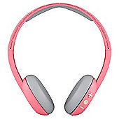 SKULLCANDY UPROAR WIRELESS HEADPHONES CORAL