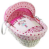 Clair De Lune My Dolly White Wicker Moses Basket