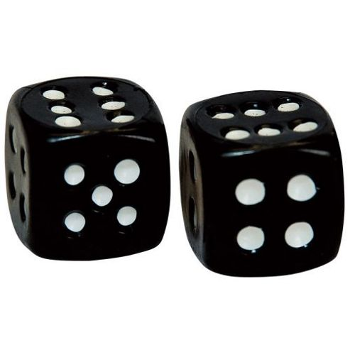 Weldtite Dice Valve Caps in Black (card of 2)