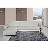 Leader Lifestyle Spencer 4 Seater Clic Clac Corner Sofa Bed - White