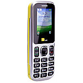 TTsims Dual Sim TT130 Mobile Phone with Camera and Bluetooth - Yellow