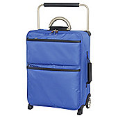 IT Luggage World's Lightest Suitcase, Blue Small