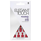 Elegant Touch Polished Nails Red 318