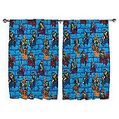 "Teenage Mutant Ninja Turtles Curtains W168xL137cm (66x54"")"