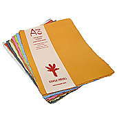 Handmade Recycled Paper. A3, Assorted colours, 20 sheets, 210gsm.