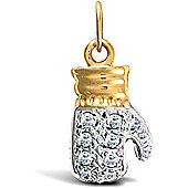 Jewelco London 9ct Solid Gold No.1 Mum Pendant with both polished & barked finish