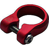 Acor Bolt Seat Post Clamp: 28.6mm Red.