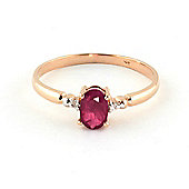 QP Jewellers Diamond & Ruby Allure Ring in 14K Rose Gold