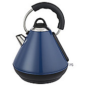 Tesco Pyramid Kettle, 1.7L - Blue