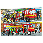 Bigjigs Toys BJ052 Duo Puzzle Fire Engine