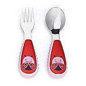 Skip Hop Zoo-Tensils Fork & Spoon Set - Ladybug