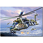 Revell Mil Mi-24V Hind E Helicopter 1:72 Aircraft Model Kit - 04839