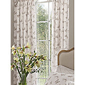 Kew Gardens Butterflies Pencil Pleat Lined Curtains 66x72 - Natural