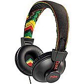 HOUSE OF MARLEY POSITIVE VIBRATION HEADPHONES (RASTA WITH MICROPHONE)