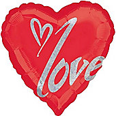 "Perfect Love Valentines Balloon - 32"" Foil (each)"