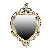 Alterton Furniture Heart Mirror - Champagne Silver - 37 cm H x 27 cm W