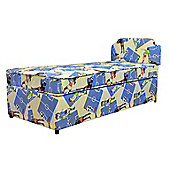Comfy Living 3ft Single Boys Football Divan Set with Headboard