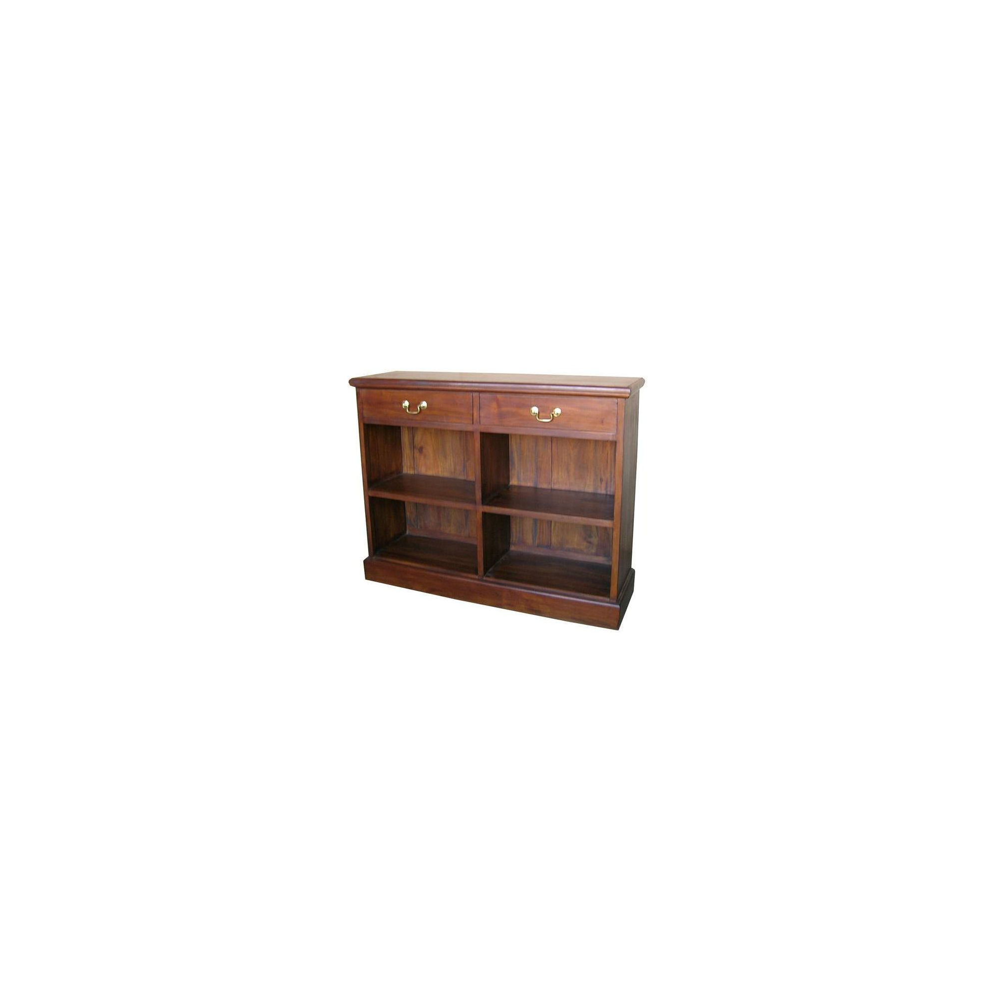 Lock stock and barrel Mahogany 2 Drawer Low Bookcase in Mahogany at Tesco Direct