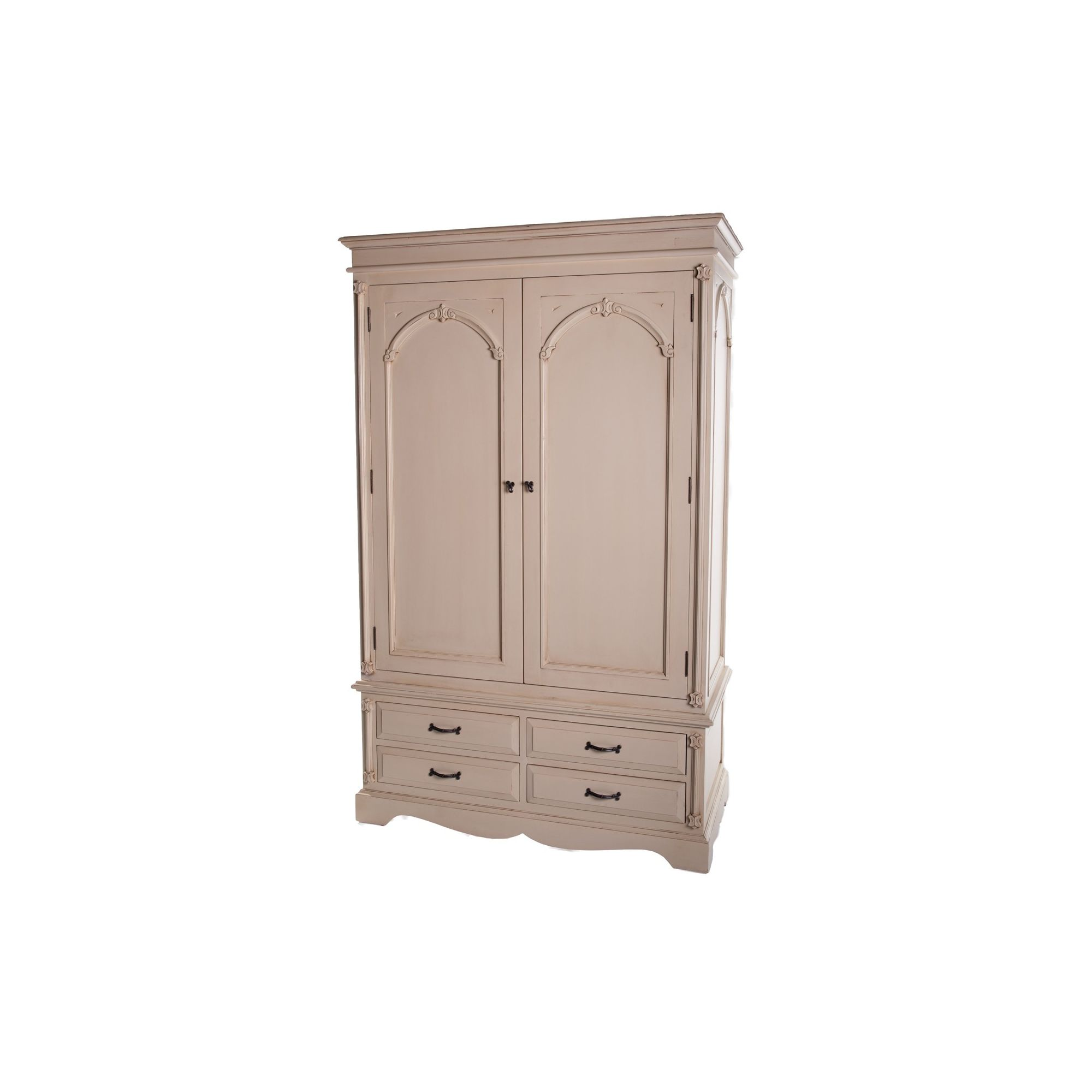Thorndon Beverley Bedroom Double Wardrobe in Distressed Ivory at Tesco Direct