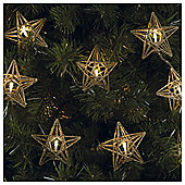 Tesco 10 Battery Operated Star Lights Champagne