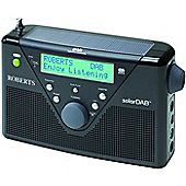 ROBERTS SOLARDAB 2 SOLAR-POWERED DAB/FM PORTABLE RADIO WITH BUILT-IN BATTERY CHARGER (RED)
