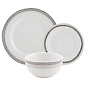 Tesco Natural Swirl 12 Piece, 4 Person Dinner Set