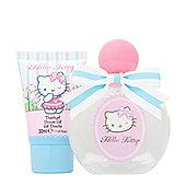 Hello Kitty Boutique Eau de Toilette 50ml & Shower Gel 30ml Gift Set Childrens