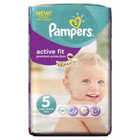 Pampers Active Fit Size 5 Carry Pack - 21 nappies
