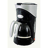 Home Essence 6 Cup Coffee Maker in Black and Silver