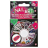 GEM WHEEL - nail art