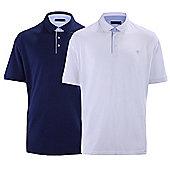 Ciro Citterio Cotton Pique Polo Shirts - 2 Pack - Multi