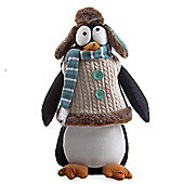 Medium Soft Felt Winter Penguin Christmas Ornament with Hat