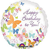 "18"" Birthday Butterflies Foil (each)"