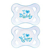 Mam - Twin Pack Soothers - Blue