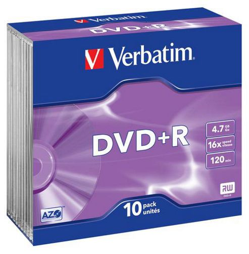 Verbatim DVD-R 4.7GB 16X 10 Pack