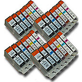 28 Chipped Compatible Canon PGI-5 & CLI-8 Ink Cartridges