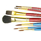 Daler Simply Watercolour Brush Set - 7 Piece Assorted Brushes
