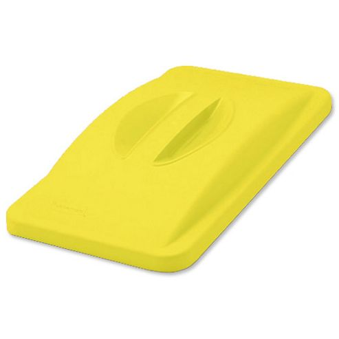 Rubbermaid Newell Slim Jim Lid for Handle Recycling System Yellow