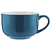 Tesco Bright Blue Large Cappucino Mug, Single