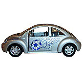 Chelsea FC Model Toy Car Silver VW Beetle