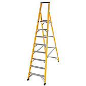 Trade 8 Tread GRP Fibreglass Platform Step Ladder